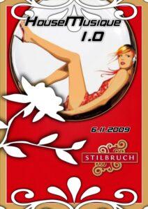 "Flyer ""HouseMusique 1.0"" by Cybermusique Netlabel"