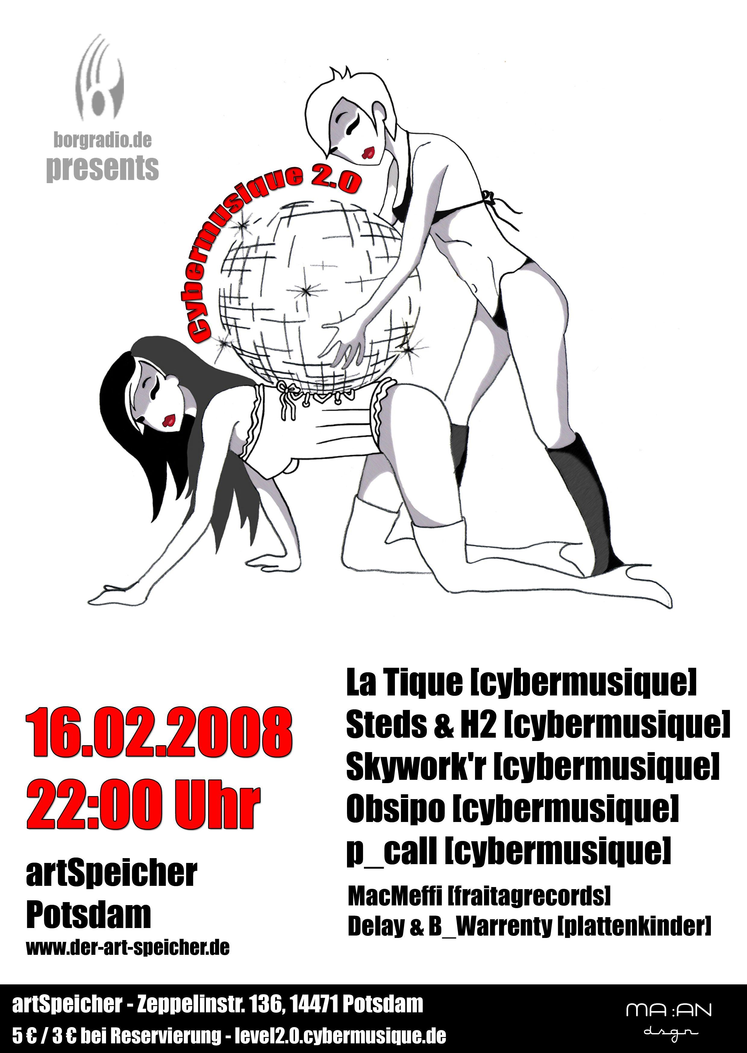 """Flyer """"Cybermusique 2.0"""" by Cybermusique Netlabel"""